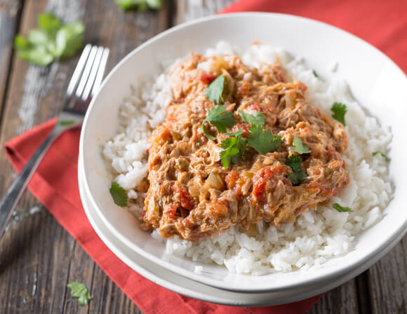 Mexican Inspired Slow Cooker Chicken