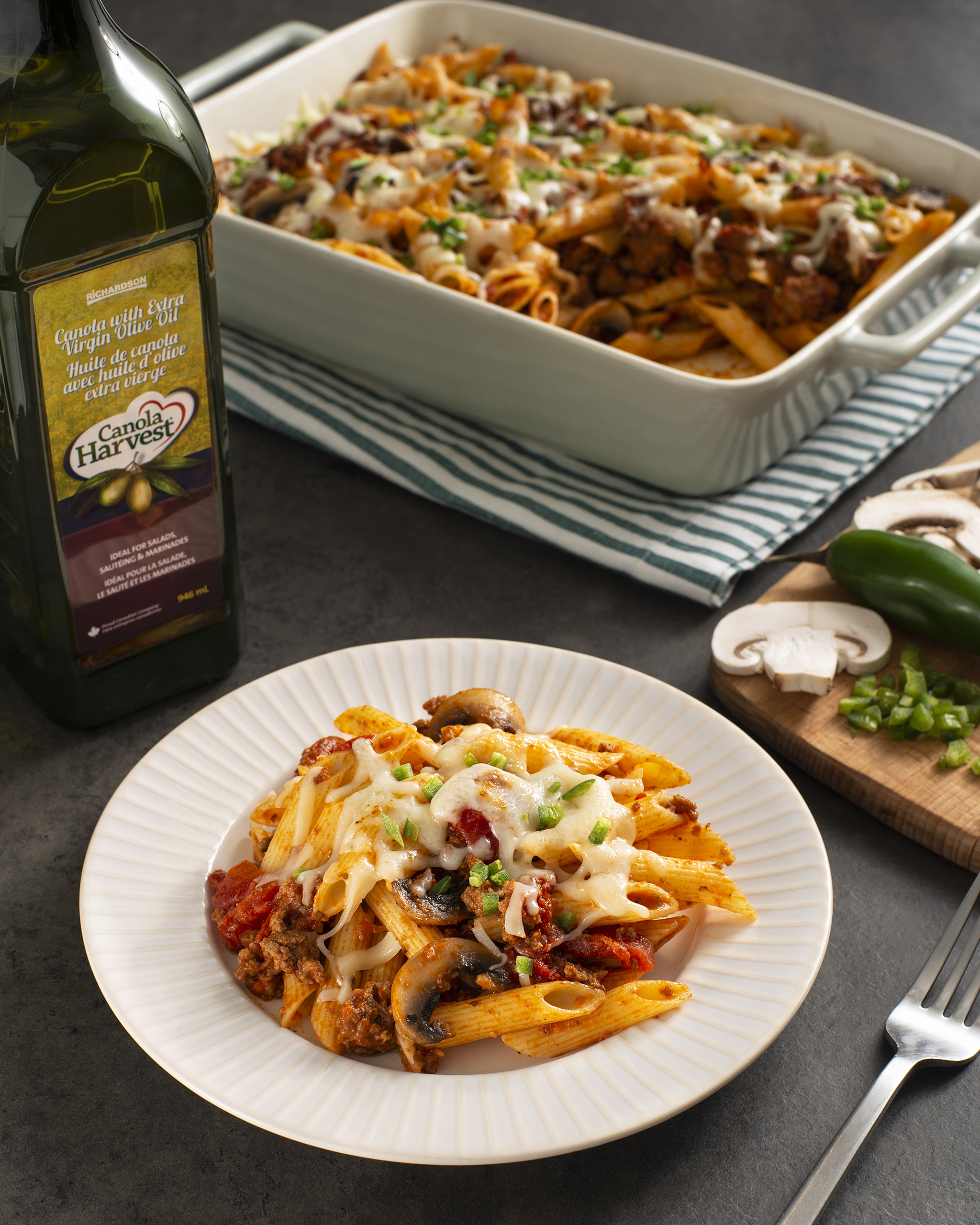 Photo of Italian Pasta Bake with Canola Harvest oil blend with olive oil